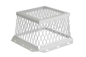 White stainless Steel Vent Guard 7 x 7 x 5