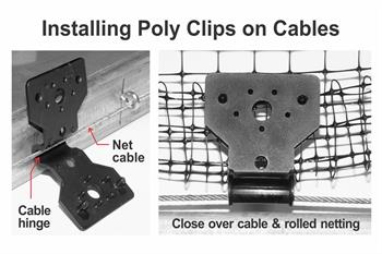 install poly clip on cables