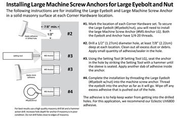 Machine Screw Anchors install diagram 1