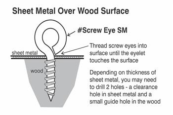 small stainless screw eye install diagram 2