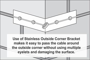 Stainless Outside Corner Bracket