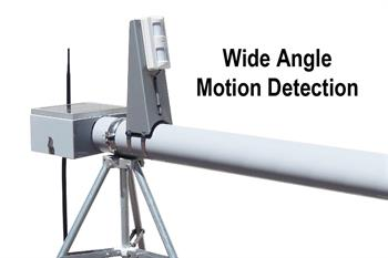 wide angle motion detect installed