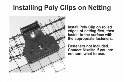 install poly clip on netting