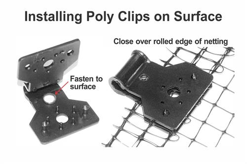 install poly clip on surface
