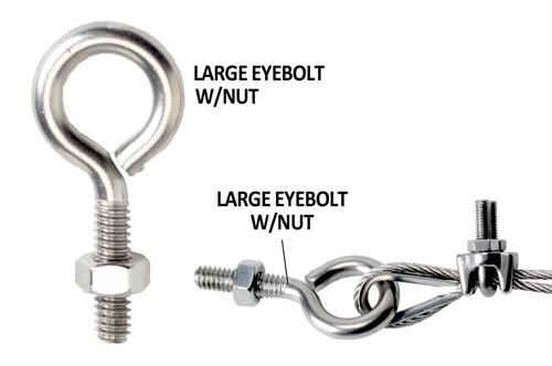 Large Eye bolt with nut example