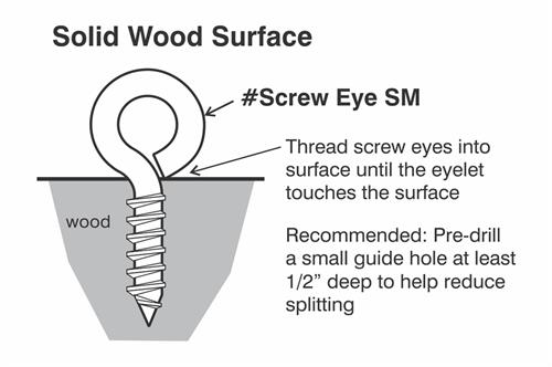 small stainless screw eye install diagram