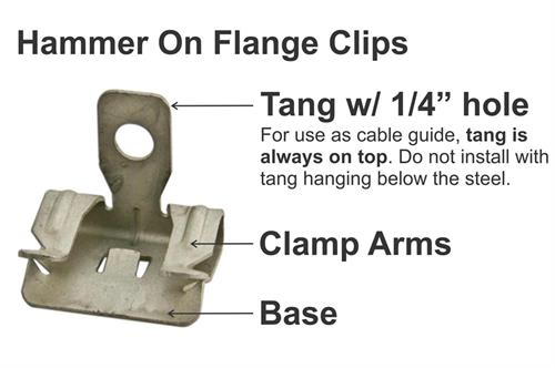 hammer on flange clip