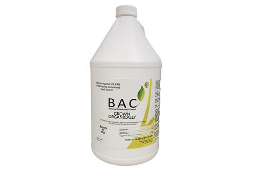 BAC - Botanical Antimicrobial Cleaner on white background